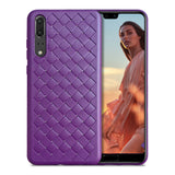 Violet Leather Weave Case (Huawei P20)
