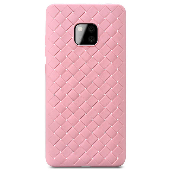 Pink Leather Weave Case (Huawei Mate 20 Pro)