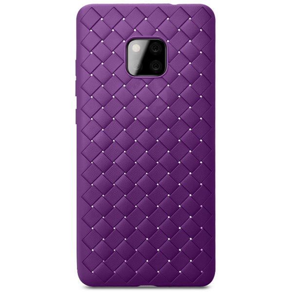 Violet Leather Weave Case (Huawei Mate 20 Pro)