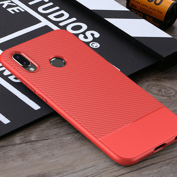 Red Carbon Fiber Case (Huawei P20 Lite)