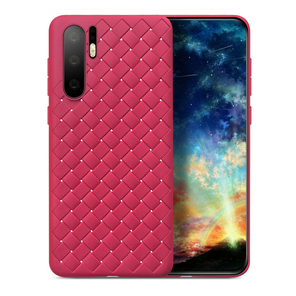 Red Leather Weave Case (Huawei P30 Pro)