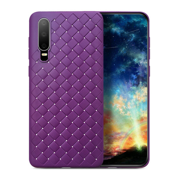 Violet Leather Weave Case (Huawei P30)