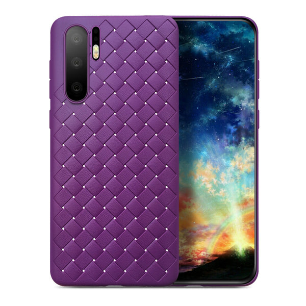 Violet Leather Weave Case (Huawei P30 Pro)