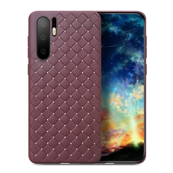 Brown Leather Weave Case (Huawei P30 Pro)