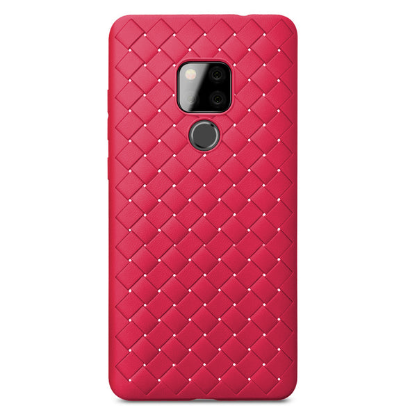 Red Leather Weave Case (Huawei Mate 20)