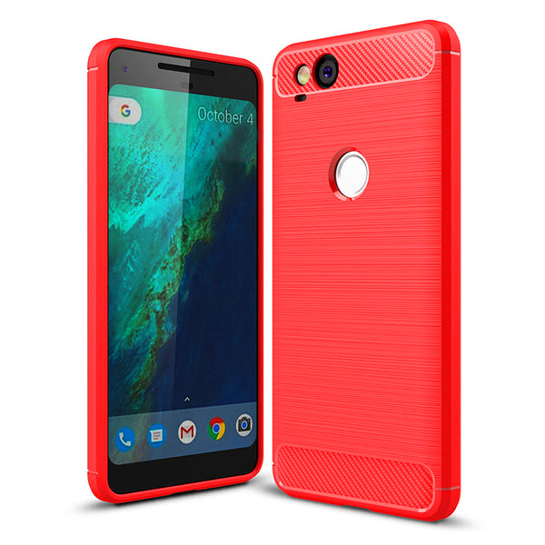 Red Brushed Metal Case (Pixel 2/2XL)