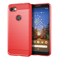 Red Brushed Metal Case (Pixel 3a/3a XL)