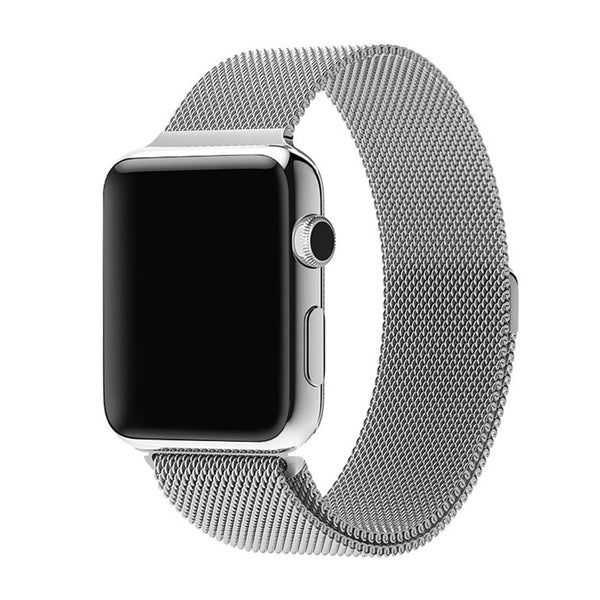 Silver Milan Mesh Apple Watch Strap
