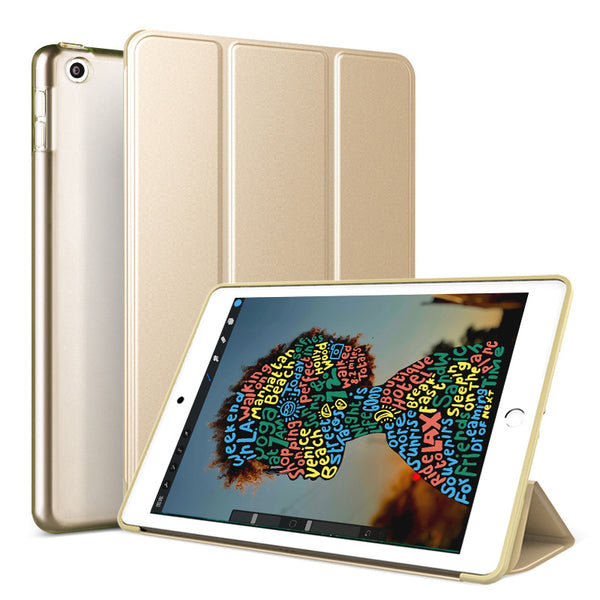 Gold Leather Folio Case with Smart Cover (iPad Mini 5 2019)