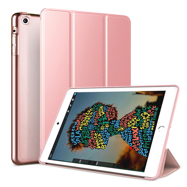 Rose Gold Leather Folio Case with Smart Cover (iPad Air 10.5-inch 2019)