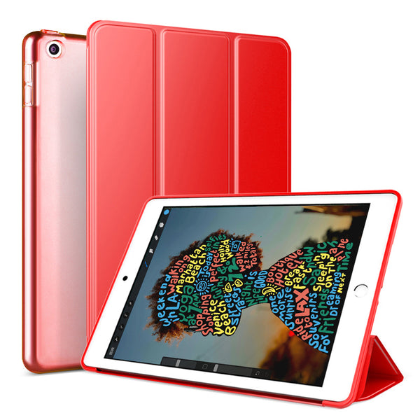 Red Leather Folio Case with Smart Cover (iPad Pro 11-inch 2018)