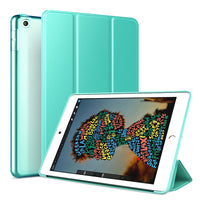 Mint Green Leather Folio Case with Smart Cover (iPad Mini 5 2019)