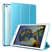 Light Blue Leather Folio Case with Smart Cover (iPad Mini 5 2019)
