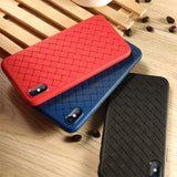 Black Leather Weave Case (iPhone X/Xs)