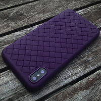Violet Leather Weave Case (iPhone X/Xs)