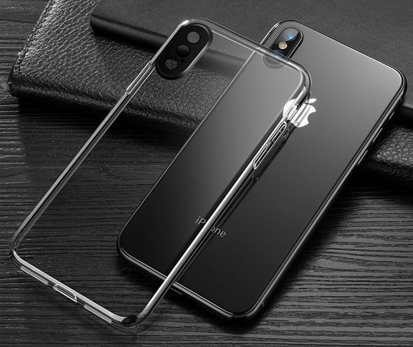 Black Camera Trim Clear Case (iPhone X/Xs)