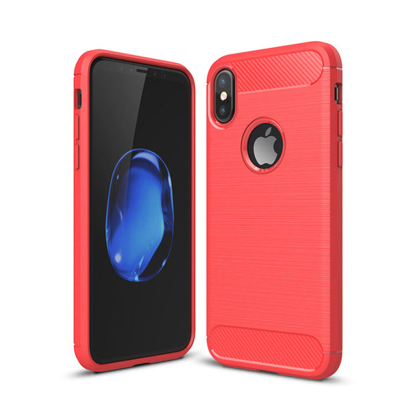 Red Brushed Metal Case (iPhone X/Xs)