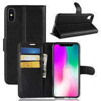 Black Leather Wallet Case (iPhone X/Xs)