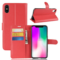 Red Leather Wallet Case (iPhone X/Xs)