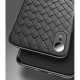 Violet Leather Weave Case (iPhone XR)