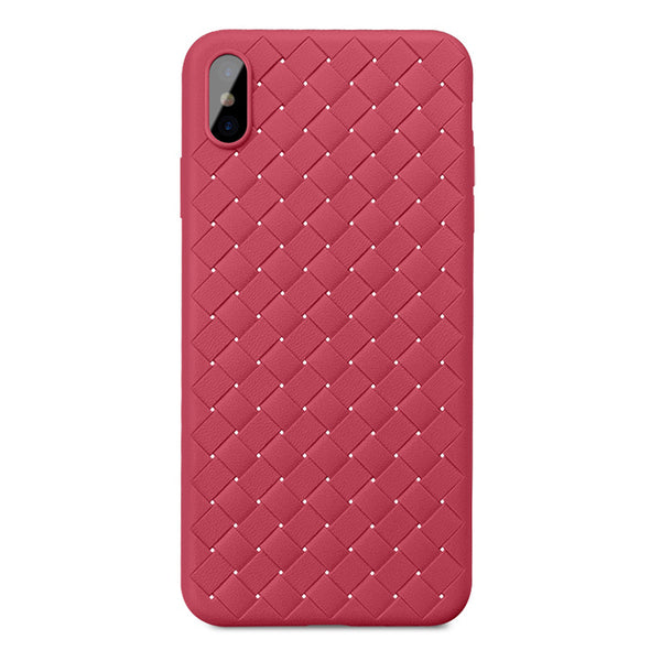 Red Leather Weave Case (iPhone Xs Max)