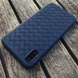 Navy Leather Weave Case (iPhone Xs Max)