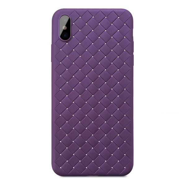Violet Leather Weave Case (iPhone Xs Max)