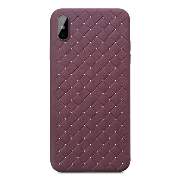 Brown Leather Weave Case (iPhone Xs Max)