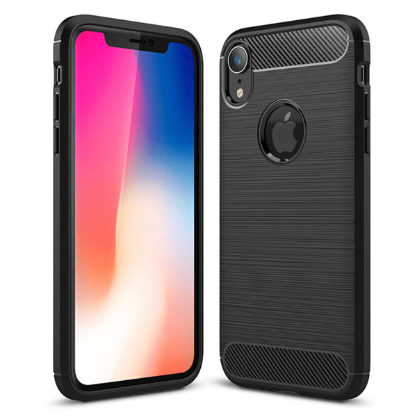 Black Brushed Metal Case (iPhone XR)