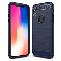 Navy Brushed Metal Case (iPhone XR)