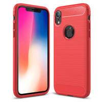 Red Brushed Metal Case (iPhone XR)