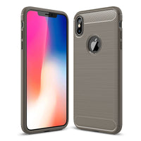 Grey Brushed Metal Case (iPhone Xs Max)