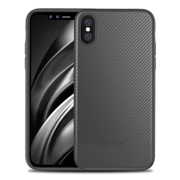 Grey Carbon Fiber Case (iPhone Xs Max)