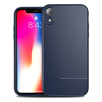 Navy Carbon Fiber Case (iPhone XR)