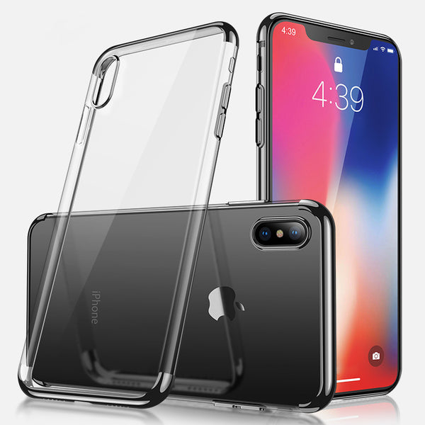 Black Trim Clear Case (iPhone Xs Max)