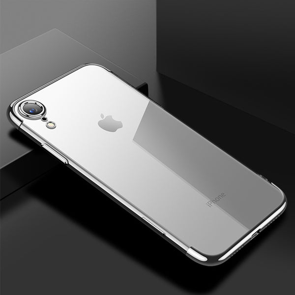 Silver Trim Clear Case (iPhone XR)