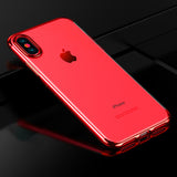 Red Trim Clear Case (iPhone Xs Max)