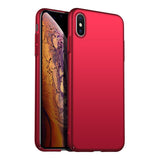 Metallic Red Hard Case (iPhone Xs Max)