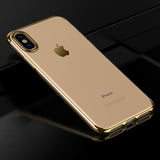 Gold Trim Clear Case (iPhone X/Xs)
