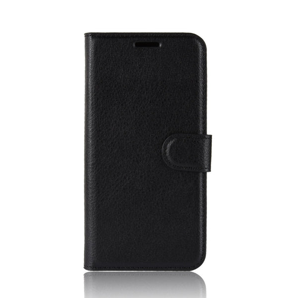 Black Leather Wallet Case (iPhone Xs Max)