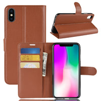 Brown Leather Wallet Case (iPhone XR)