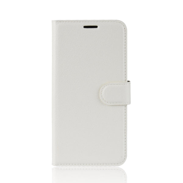 White Leather Wallet Case (iPhone XR)