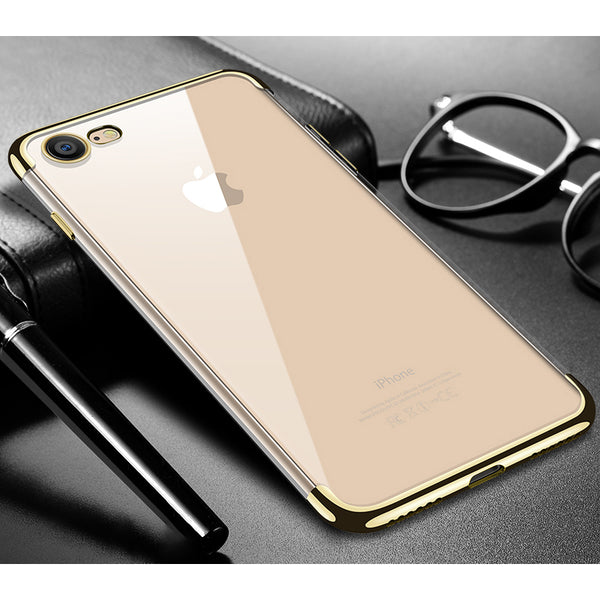 Gold Trim Clear Case (iPhone 7/8/SE 2020)