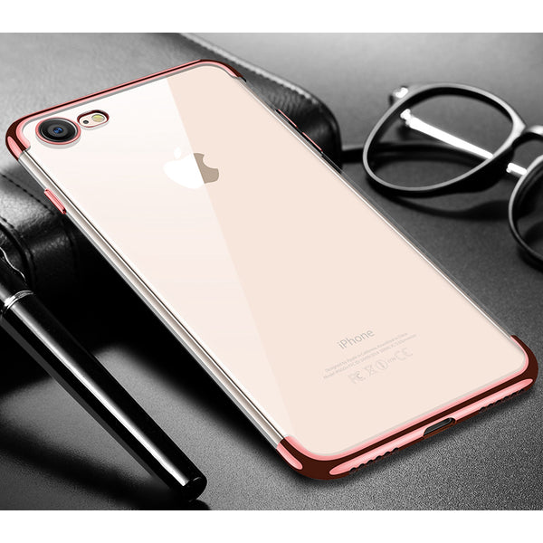 Rose Gold Trim Clear Case (iPhone 7/8/SE 2020)