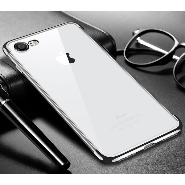 Silver Trim Clear Case (iPhone 7/8/SE 2020)