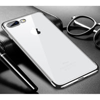 Silver Trim Clear Case (iPhone 7+/8+)