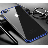 Blue Trim Clear Case (iPhone 7/8/SE 2020)