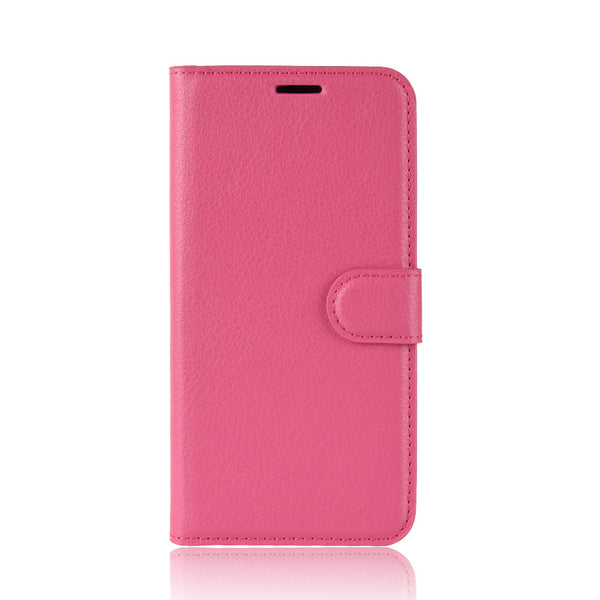 Fuchsia Leather Wallet Case (iPhone XR)
