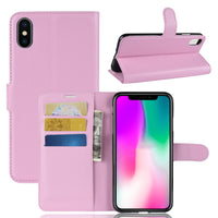 Pink Leather Wallet Case (iPhone XR)