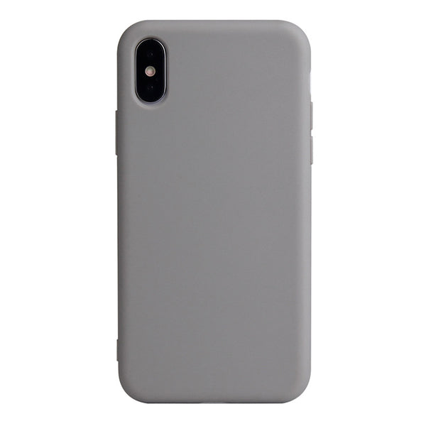 Matte Grey Soft Case (iPhone Xs Max)